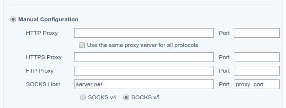 Proxy Switchy SOCKS