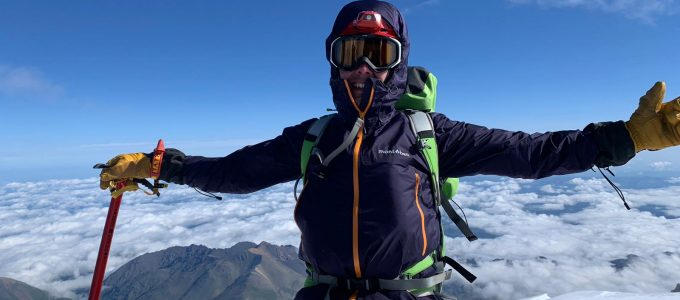 Az Elbrusz csúcsán